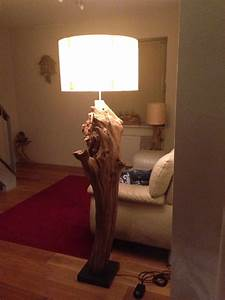 unique tree stump floor lamp made from old oak by gbhnatureart With tree stump floor lamp