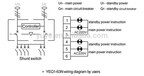 yeq1 63n electrical changeover switch automatic transfer