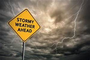 Stormy weather sign stock illustration. Image of cloudy ...