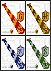 wizard ties badges foldable templates harry potter With harry potter tie template
