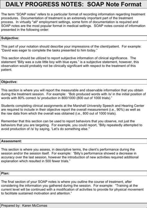 soap note format template templatesforms soap note