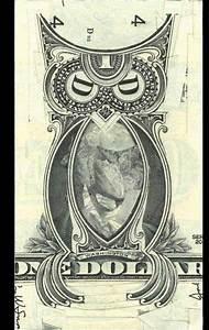 Bohemian Grove Club Owl made from a one dollar bill ...