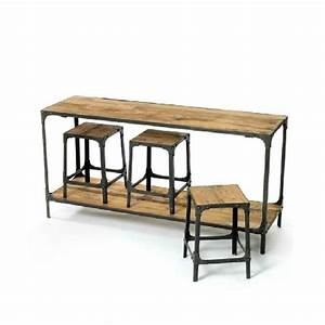 american retro dinette industry conference loft bar iron With wood and iron coffee table sets