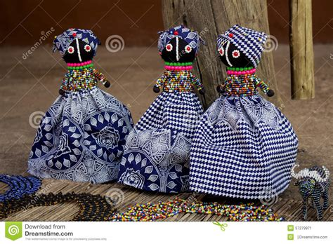 african rag dolls handmade beads fabrics clothes local