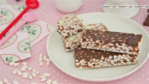 pronto in tavola dolci pronto in tavola barrette al riso soffiato e cioccolato