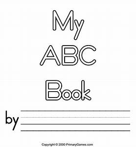 free printable abc book covers abc coloring pages With printable alphabet book template