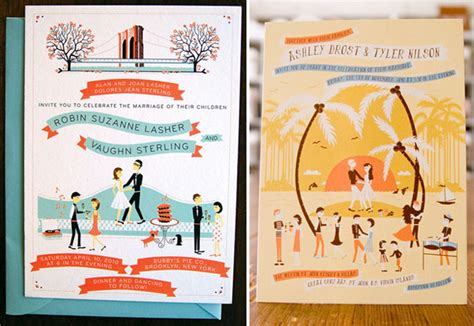 Whimsical Wedding Invitations From Anna Hurley
