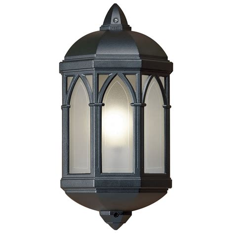 endon brighton half lantern outdoor porch wall light ip44