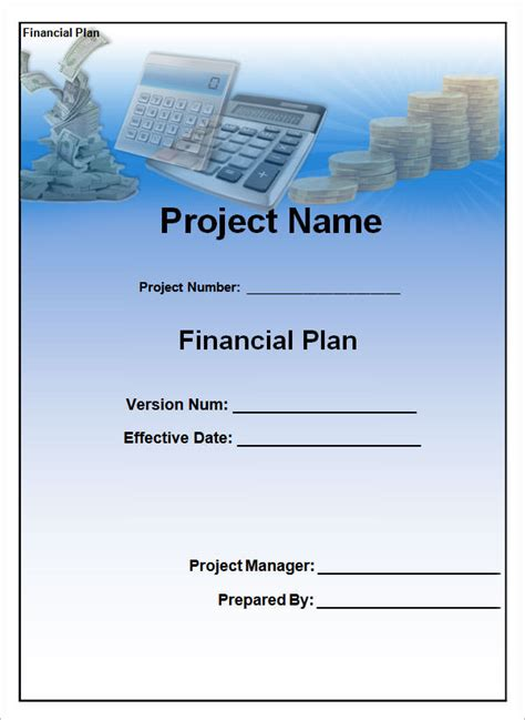 sample financial plan  documents  word excel
