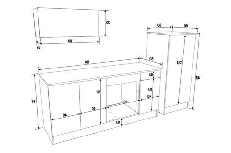 taille ier cuisine meuble cuisine dimension galerie et taille standard meuble