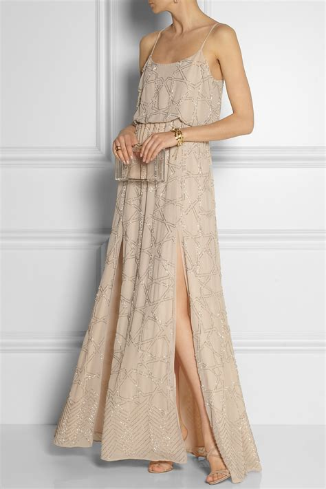 Marchesa Dress needle thread constellation embellished chiffon maxi 920 x 1380 · jpeg