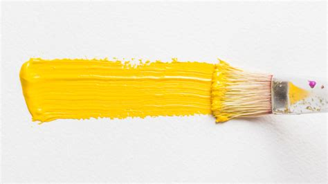 brush painting with yellow color photo free download