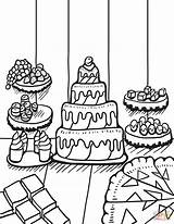 Coloring Desserts Table Pages Zentangle Printable Food Adults Cake Print Drawing Main Paper Skip Supercoloring sketch template
