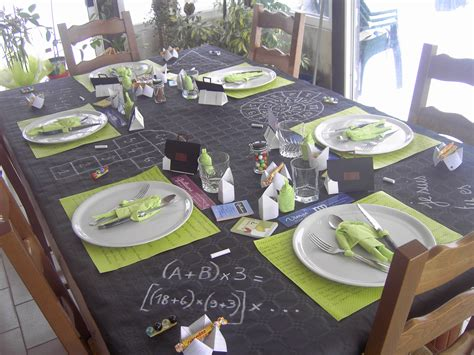 deco table anniversaire fille  ans table de lit