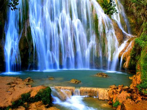 beautiful hd wallpaper waterfall rocks forest