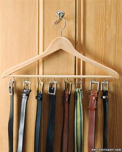 Belt Holder For Closet by 20 Creative Ways To Organize And Decorate With Hangers