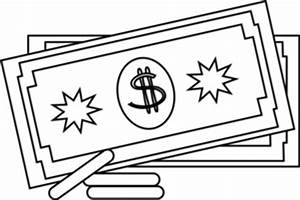 Money black and white showing post clip art - WikiClipArt