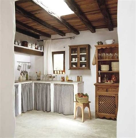 como renovar muebles de cocina  romanticas cortinas ideas casas