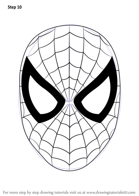 learn   draw spiderman face spiderman step  step