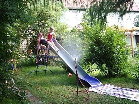 Wasserrutsche Im Garten ) Kein Planschbecken Für Kinder