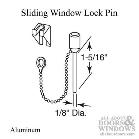 window locking pin   diameter aluminum