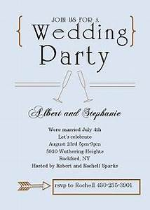 elopement party invitations reception only invitations With wedding party invitations after getting married