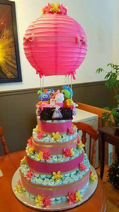 hot air balloon diaper cake bottom small box wrapped