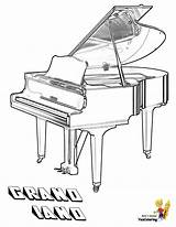 Coloring Piano Musical Instrument Yescoloring Grand Instruments Mighty Come Playful sketch template