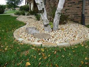 Weilbacher Landscaping Installation Mulch Decorative Rock Trees Shrubs Berms Bed Outstanding Landscaping Edging Stones