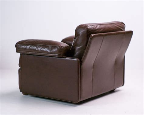 Vintage Leather Lounge Chair By Tito Agnoli For Poltrona