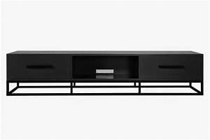 Meuble Tv Metal : meuble tv metal noir maison design ~ Teatrodelosmanantiales.com Idées de Décoration