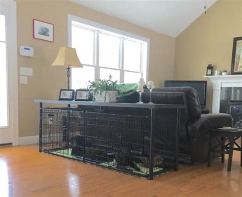 large dog crate ideas tail  fur