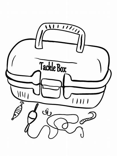 Fishing Tackle Coloring Box Lake Fun Beginners