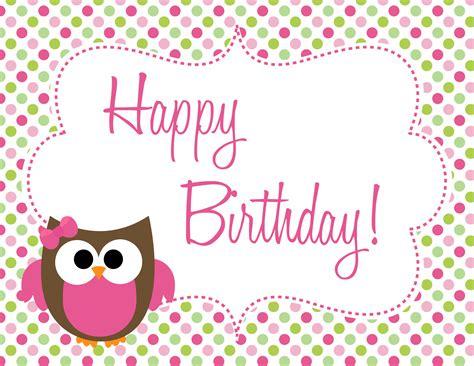 Happy Birthday Decorations Printable by Owl Birthday Freebie