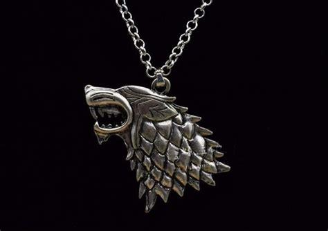 Collar Lobo Game Of Thrones Casa Stark Juego De Tronos