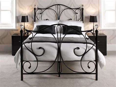 black wrought iron headboard wrought iron bed my house