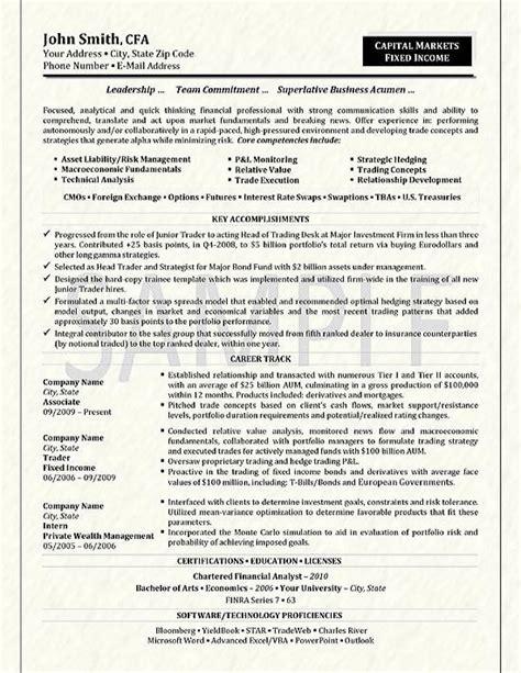 trader resume