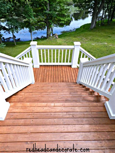 Thompsons Deck Wash by Thompson S Waterseal Deck Makeover Can Decorate