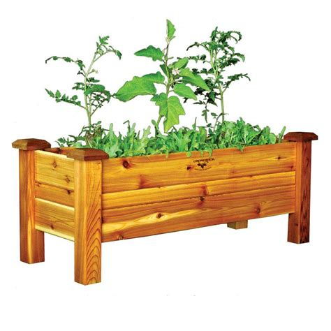 gronomics 48 in x 18 in safe finish cedar planter box pb