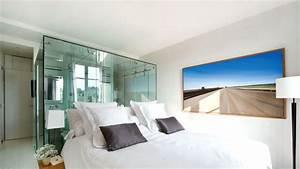 awesome chambre avec salle d eau ouverte images design With chambre avec salle de bain ouverte et dressing