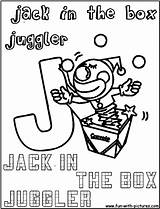 Juggler Coloring Jackinthebox Fun sketch template