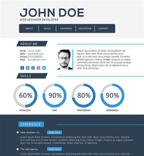 Programmer Resume Psd Template by 19 Free Professional Resume Templates 2014 Idevie