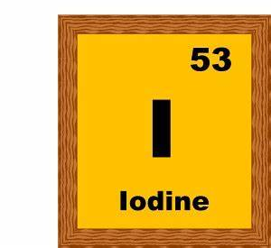 Chemical Elements : iodine-53-B : Classroom Clipart