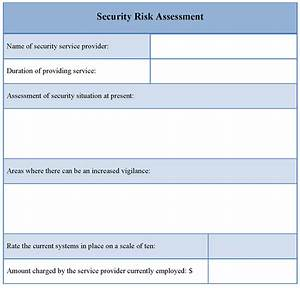 assessment template for security risk example of security With risk assessment security survey template