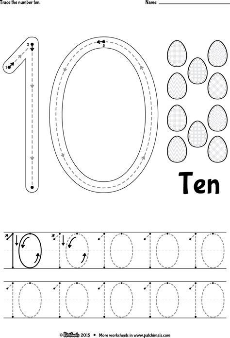 tracing number from 6 to 10 free coloring pages