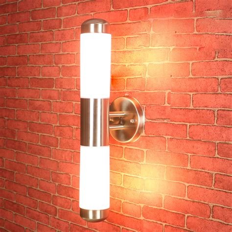 contemporary outdoor lighting sconces contemporary led wall light l stainless steel outdoor