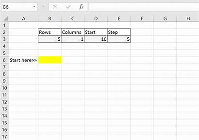 Sequence Excel Function Practice Syntax Example