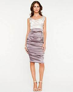 le chateau colourblocked ruched satin dress With robe de soirée fleurie