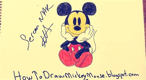 step  step mickey mouse drawing tutorial easy mickey