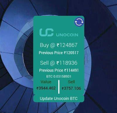 unocoin  bitcoin price tracker widget  tasker